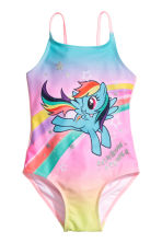 Printed swimsuit - Pink/My Little Pony - Kids | H&M 1