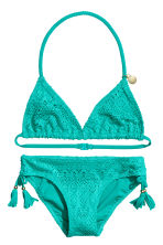Triangle bikini - Dark turquoise - Kids | H&M 1