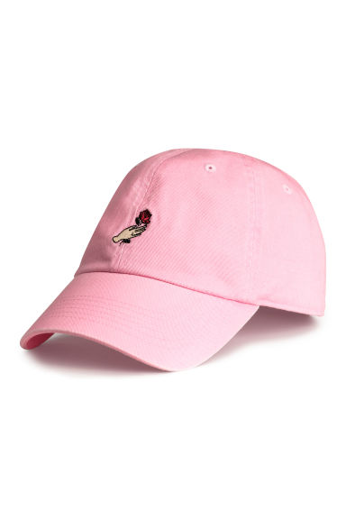Cotton cap with embroidery - Light pink - Men | H&M CN 1