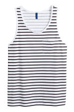 Vest top with a chest pocket - White/Striped - Men | H&M CN 2