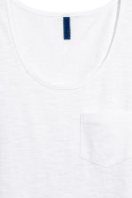 Vest top with a chest pocket - White - Men | H&M 2