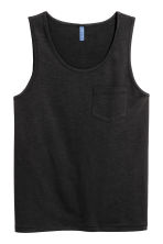Vest top with a chest pocket - Black -  | H&M 2