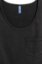 Vest top with a chest pocket - Black -  | H&M 3