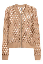 Hole-patterned cardigan - Beige - Ladies | H&M 2