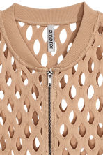 Hole-patterned cardigan - Beige - Ladies | H&M 3
