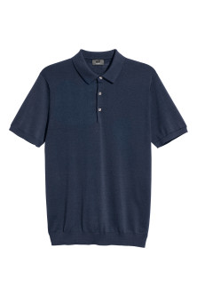 Silk-blend polo shirt