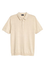 Silk-blend polo shirt - Beige - Men | H&M CA 2