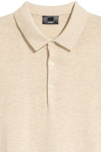 Silk-blend polo shirt - Beige - Men | H&M 3
