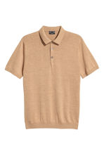 Silk-blend polo shirt - Dark beige - Men | H&M 2