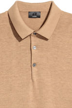 Silk-blend polo shirt - Dark beige - Men | H&M 3