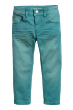 Pantaloni stretch Slim fit - Turchese scuro -  | H&M IT 2
