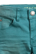 Stretch trousers Slim fit - Dark turquoise -  | H&M CN 3