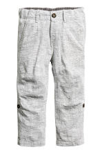 Pantalon - Gris clair chiné -  | H&M FR 2