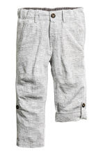 Trousers - Light grey marl -  | H&M 3