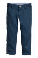 Cotton chinos - Dark blue - Kids | H&M CN 2
