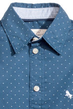 Cotton shirt - Dark blue/Spotted - Kids | H&M CN 3