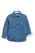 Cotton shirt - Dark blue/Spotted - Kids | H&M CN 2