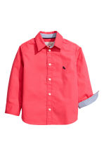 Cotton shirt - Coral red - Kids | H&M 3
