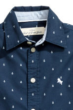 Cotton shirt - Dark blue/Anchor - Kids | H&M 4