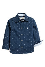 Cotton shirt - Dark blue/Anchor - Kids | H&M 3