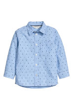 Patterned shirt - Light blue -  | H&M CN 2