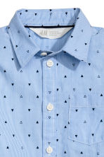 Patterned shirt - Light blue -  | H&M CN 3