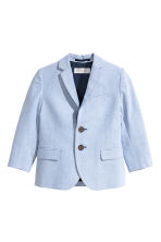 Textured-weave blazer - Light blue - Kids | H&M 2