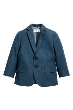 Textured-weave blazer - Dark blue/Spotted -  | H&M 2
