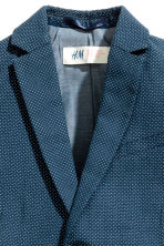 Textured-weave blazer - Dark blue/Spotted -  | H&M 3