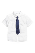 Shirt with tie/bow tie - White -  | H&M CN 2
