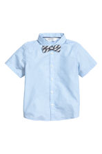 Shirt with tie/bow tie - Light blue -  | H&M 2