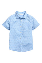 Short-sleeved cotton shirt - Light blue/Spotted - Kids | H&M 2
