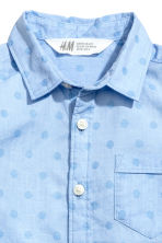 Short-sleeved cotton shirt - Light blue/Spotted - Kids | H&M 3