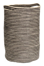 Jute laundry basket - Light beige/Striped - Home All | H&M CN 1