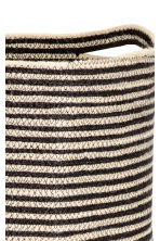 Jute laundry basket - Light beige/Striped - Home All | H&M CN 2