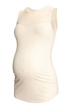 MAMA Sleeveless jersey top - Natural white -  | H&M CN 2