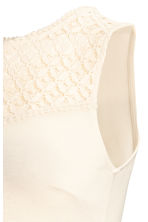 MAMA Sleeveless jersey top - Natural white -  | H&M 3