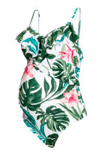 MAMA Swimsuit with flounces - White/Leaf - Ladies | H&M 2