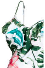 MAMA Swimsuit with flounces - White/Leaf - Ladies | H&M 3