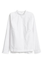 Frilled cotton blouse - White - Ladies | H&M CN 2
