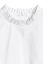 Frilled cotton blouse - White - Ladies | H&M 3