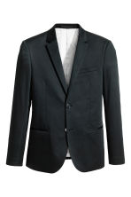 Cotton jacket Skinny fit - Black - Men | H&M IE 2