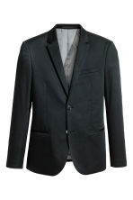 Cotton jacket Skinny fit - Black - Men | H&M IE 4