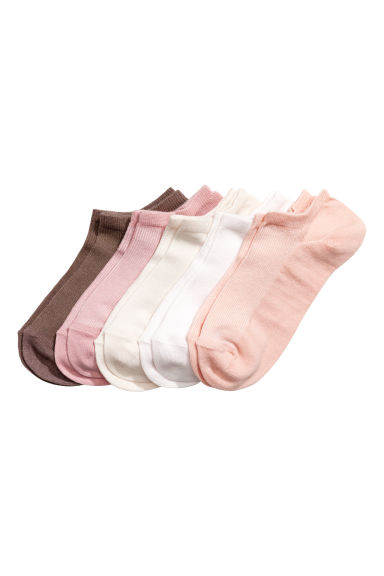5-pack trainer socks - Light apricot - Ladies | H&M