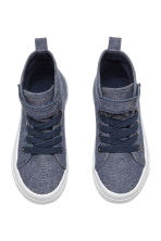 Cotton canvas trainers - Dark blue marl - Kids | H&M CN 2