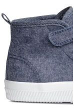 Sneakers in tela di cotone - Blu scuro mélange - BAMBINO | H&M IT 4