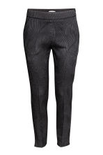 Cigarette trousers - Black/Patterned - Ladies | H&M CN 2