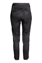 Cigarette trousers - Black/Patterned - Ladies | H&M CN 3