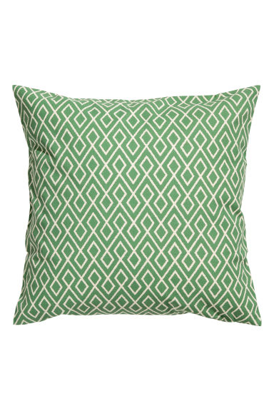 Patterned cushion cover - White/Green - Home All | H&M CN 1