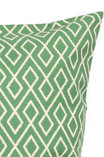 Patterned cushion cover - White/Green - Home All | H&M CN 2